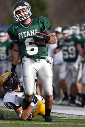 12 November 2011:  Joe Musso during an NCAA division 3 football game between the Augustana Vikings and the Illinois Wesleyan Titans in Tucci Stadium on Wilder Field, Bloomington IL