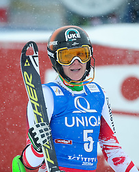 29.12.2014, Hohe Mut, Kühtai, AUT, FIS Ski Weltcup, Kühtai, Slalom, Damen, 2. Durchgang, im Bild Nicole Hosp (AUT) // Nicole Hosp of Austria reacts after 2nd run of Ladies Giant Slalom of the Kuehtai FIS Ski Alpine World Cup at the Hohe Mut Course in Kuehtai, Austria on 2014/12/29. EXPA Pictures © 2014, PhotoCredit: EXPA/ Erich Spiess