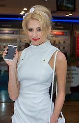 © Licensed to London News Pictures. 31/01/2013 London, UK Pixie Lott celebrates the launch of the new Blackberry Z10 at Phones 4U, Oxford Street, London. Customers and fans were amongst the first to experience the new smartphone equipped with the latest Blackberry 10 operating system..Photo credit : Simon Jacobs/LNP