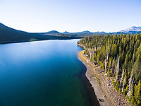 Elk Lake. Cascade Lakes Highway in Central Oregon.