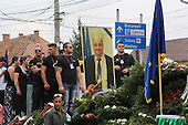 King of the Roma Gypsies. Procession Florin Cioaba's Funeral