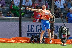 Erik Cadée stelde met 57,97m met discuswerpen zwaar  teleurbij het EK atletiek in Berlijn op 7-8-2018