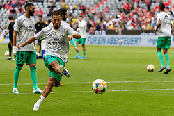 31.07.2019, Allianz Arena, Muenchen, GER, Audi Cup, Fenerbahce Istanbul vs Fenerbahce Istanbul, im Bild Eden Hazard (Real Madrid) beim aufwärmen // during the Audi Cup Match between FC  Fenerbahce Istanbul and Fenerbahce Istanbul at the Allianz Arena in Muenchen, Germany on 2019/07/31. EXPA Pictures © 2019, PhotoCredit: EXPA/ Lukas Huter