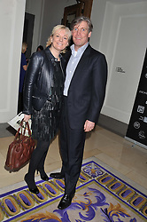 JO MALONE and her husband GARY WILLCOX at the 2012 Luxury Briefing Awards in association with Bloomberg held at the Corinthia Hotel, London on 14th March 2012.