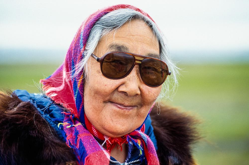 Loretta Shinugk, Yupik elder, Shismaref Island, Bering Land Bridge National Preserve, Alaska, USA