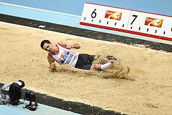 07.03.2014, Ergo Arena, Sopot, POL, IAAF, Leichtathletik Indoor WM, Sopot 2014, Tag 1, im Bild Arsen Sargsyan (ARM) // Arsen Sargsyan (ARM) during day one of IAAF World Indoor Championships Sopot 2014 at the Ergo Arena in Sopot, Poland on 2014/03/07. EXPA Pictures © 2014, PhotoCredit: EXPA/ Newspix/ Adam Jastrzebowski<br /> <br /> *****ATTENTION - for AUT, SLO, CRO, SRB, BIH, MAZ, TUR, SUI, SWE only*****