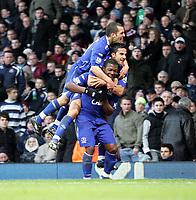 Photo: Karyn Haddon/Sportsbeat Images.<br />West Ham United v Everton. The FA Barclays Premiership. 15/12/2007.<br />Yakubu celebrates with team mates after scoring Everton's first goal against West Ham
