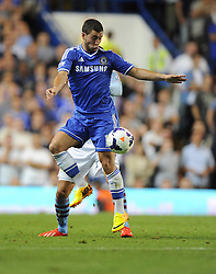 "Chelsea's Eden Hazard controls the ball  - Photo mandatory by-line: Joe Meredith/JMP - Tel: Mobile: 07966 386802 21/08/2013 - SPORT - FOOTBALL - Stamford Bridge - London - Chelsea V Aston Villa - Barclays Premier League - EDITORIAL USE ONLY. No use with unauthorised audio, video, data, fixture lists, club/league logos or ""live"" services. Online in-match use limited to 45 images, no video emulation. No use in betting, games or single club/league/player publications"
