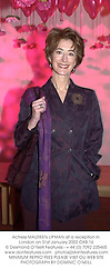 Actress MAUREEN LIPMAN at a reception in London on 31st January 2002.<br />OXB 16
