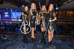 Electronic string quartet ESCALA at the Chain of Hope Gala Ball held at The Grosvenor House Hotel, Park Lane, London on 18th November 2016.