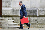 London, United Kingdom, May 12: UK Foreign Secretary and First Secretary of State Dominic Raab arrives at the Foreign and Commonwealth Office in London on Wednesday, May 12, 2021. (Photo/ Vudi Xhymshiti)