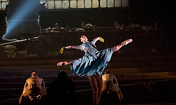 English National Ballet <br /> Triple Bill<br /> at Sadler's Wells, London, Great Britain <br /> rehearsal <br /> 7th September 2015 <br /> <br /> No Man's Land <br /> <br /> by Liam Scarlett <br /> <br /> <br /> Crystal Costa <br /> Max Westwell<br /> <br /> <br /> <br /> Photograph by Elliott Franks <br /> Image licensed to Elliott Franks Photography Services
