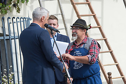 Sasa Arsenovic, the mayor of Maribor, during the Old Vine harvest.Modra kavcina or Bleu de Cologne is more than 400 years old and it is listed in the Guinness Book of Records as the oldest vine in the world still producing fruit. Pictured on 22nd of September in Maribor, Slovenia.  Photo by Milos Vujinovic / Sportida
