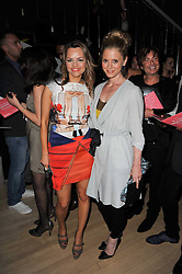 Left to right, MARIA HATZISTEFANIS and EMILIA FOX at the 2nd Rodial Beautiful Awards in aid of the Hoping Foundation held at The Sanderson Hotel, 50 Berners Street, London on 1st February 2011.