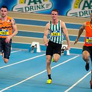 NLD/Apeldoorn/20180217 - NK Indoor Athletiek 2018, 60 meter heren, Joris van Gool, Leon ten Klooster en Patrick van Luijk