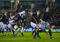 Football - 2018 / 2019 Emirates FA Cup - Fourth Round: Millwall vs. Everton<br /> <br /> Yerry Mina (Everton FC ) watches the ball as the heavy rain persists at The Den.<br /> <br /> COLORSPORT/DANIEL BEARHAM