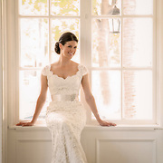 A bride poses during her bridal portrait session in Columbia, S.C.   ©Travis Bell Photography