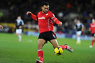 Cardiff city's Steven Caulker. Barclays Premier league, Cardiff city v Southampton at the Cardiff city Stadium in Cardiff,  South Wales on Boxing day, Thursday 26th Dec 2013. <br /> pic by Andrew Orchard, Andrew Orchard sports photography.