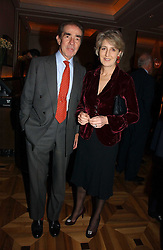 The EARL & COUNTESS ALEXANDER OF TUNIS at a party to celebrate the publication of 'Dancing into Waterloo' by Nick Foulkes held at The Westbury Hotel, Conduit Street, London on 14th December 2006.<br />
