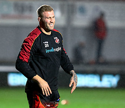 Ross Moriarty of Dragons during the pre match warm up<br /> <br /> Photographer Simon King/Replay Images<br /> <br /> Guinness PRO14 Round 10 - Dragons v Leinster - Saturday 1st December 2018 - Rodney Parade - Newport<br /> <br /> World Copyright © Replay Images . All rights reserved. info@replayimages.co.uk - http://replayimages.co.uk