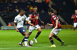 Chris Humphrey of Preston North End attacks - Mandatory byline: Matt McNulty/JMP - 07966386802 - 22/09/2015 - FOOTBALL - Deepdale Stadium -Preston,England - Preston North End v Bournemouth - Capital One Cup - Third Round