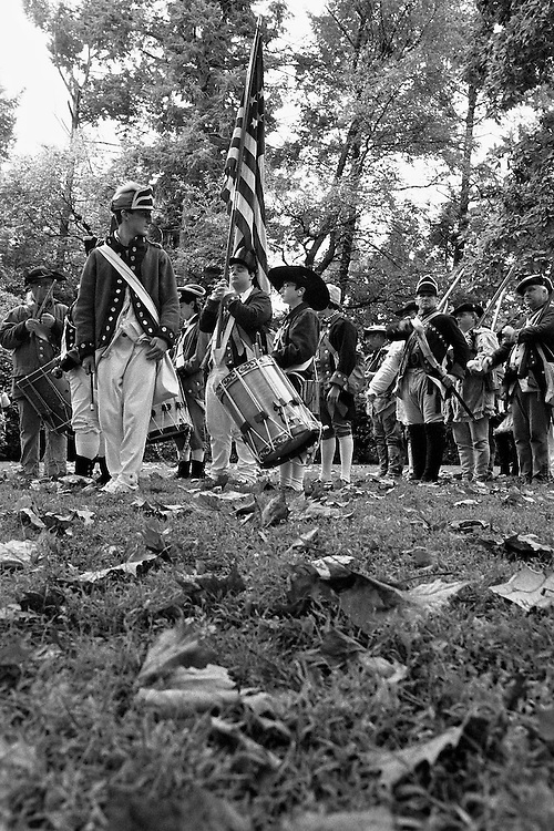 Historic re-enactment of the Revolutionary War Battle of Germantown of October 4, 1777. Photos captured on ADOX CHS 100 II & Kodak 400TX film and converted to JPEG.