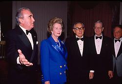 Margaret Thatcher, Javis Astaire, Henry Kissinger, New York, 28/01/1992