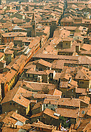 Italy, Bologna, Rooftops