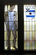 Berlin, GERMANY.Stained Glass windows in the  Berliner Ruderclub Boathouse.  [Mandatory Credit; Peter Spurrier/Intersport-images].