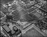 """""""Pacific Building Supply Co. aerial of area by Eliot School. December 2, 1960"""""""