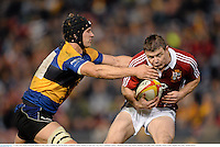 11 June 2013; Brian O'Driscoll, British & Irish Lions, is tackled by Tim Davidson, Combined Country. British & Irish Lions Tour 2013, Combined Country v British & Irish Lions, Hunter Stadium, Newcastle, NSW, Australia. Picture credit: Stephen McCarthy / SPORTSFILE