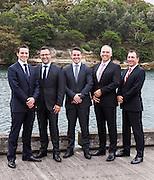 Business group portrait near Otto Restaurant, Woolloomooloo, Sydney.
