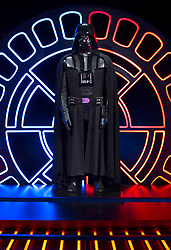 EDITORIAL USE ONLY<br /> A Darth Vader costume goes on display at The STAR WARS Identities: The Exhibition at The O2 in London, which features over 200 props, models, costumes and artwork from the original films.