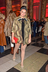 Gizzi Erskine at the Mary Quant VIP Preview at The Victoria & Albert Museum, London, England. 03 April 2019. <br /> <br /> ***For fees please contact us prior to publication***