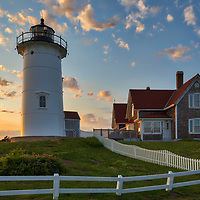New England photography of Nobska Lighthouse at sunset. This iconic Massachusetts lighthouse is located near Woods Hole Village in Falmouth, MA on Cape Cod.<br /> <br /> This beautiful Cape Cod lighthouse photography image is available as museum quality photography prints, canvas prints, acrylic prints, wood prints or metal prints. Fine art prints may be framed and matted to the individual liking and interior design decorating needs:<br /> <br /> https://juergen-roth.pixels.com/featured/nobska-lighthouse-juergen-roth.html<br /> <br /> Good light and happy photo making!<br /> <br /> My best,<br /> <br /> Juergen<br /> Photo Prints: http://www.rothgalleries.com<br /> Photo Blog: http://whereintheworldisjuergen.blogspot.com<br /> Instagram: https://www.instagram.com/rothgalleries<br /> Twitter: https://twitter.com/naturefineart<br /> Facebook: https://www.facebook.com/naturefineart