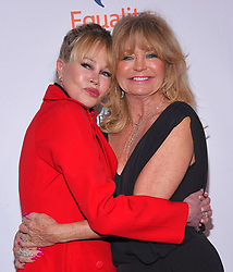 """4th Annual """"Make Equality Reality"""" Gala at Beverly Hilton Hotel on December 3, 2018 in Beverly Hills, CA. © O'Connor/AFF-USA.com. 03 Dec 2018 Pictured: Melanie Griffith and Goldie Hawn. Photo credit: O'Connor/AFF-USA.com / MEGA TheMegaAgency.com +1 888 505 6342"""