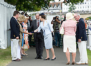 Henley. UNITED KINGDOM. Princess Royal, Princess Anne visit to 2010 Henley Royal Regatta,  meet the dignities. Stewards Enclosure, accompanied Regatta Chairman Mike SWEENEY.  Friday 02/07/2010.[Mandatory Credit: Patrick White/Intersport Images] . HRR.