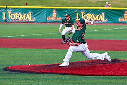 16 July 2020: Will Jackson during a Kernel League Baseball game between the Bobcats and the Hoots at Corn Crib Stadium on the campus of Heartland Community College in Normal Illinois