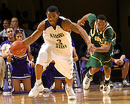 Kansas State guard Lance Harris (3) drives up court in the second half against Cleveland State at Bramlage Coliseum in Manhattan, Kansas, December 5, 2006.  K-State beat the Vikings 93-60.<br />