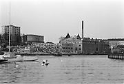 Vin & Sprits fabrik på Reimersholme rivs (bilden tagen från Gröndal)