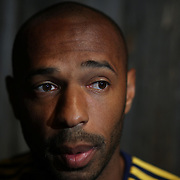 Thierry Henry, New York Red Bulls, during Media Day with the 2014 New York Red Bulls at Stage 48, Manhattan, New York, USA. 4th March2014. Photo Tim Clayton