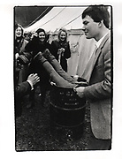 Sarah Potts in bin. Bullingdon point to point. Kingston Blount. 1984
