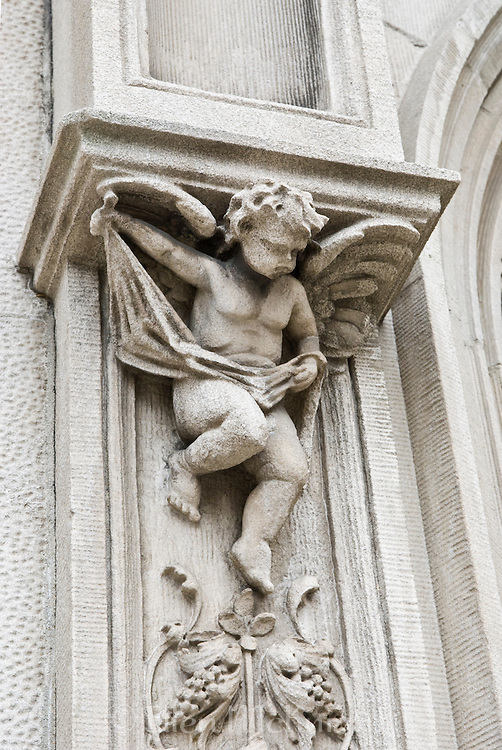 Architectural Detail on New York City Building