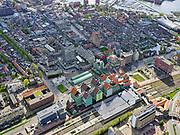 Nederland, Noord-Holland, Zaandam, 07-05-2021; centrum van Zaandam, NS Station en directe omgeving inclusief Gemeentehuis Zaanstad.<br /> Center of Zaandam, NS Station and immediate surroundings including Zaanstad City Hall.<br /> luchtfoto (toeslag op standaard tarieven);<br /> aerial photo (additional fee required)<br /> copyright © 2021 foto/photo Siebe Swart.