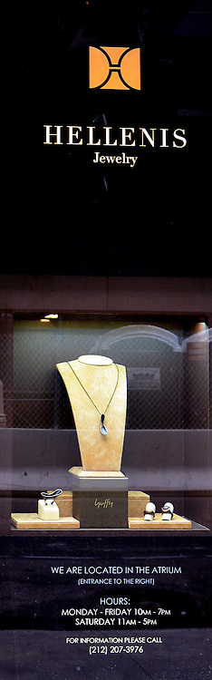 Photograph of Hellenis Jewelry at the Atrium of The Olympic Tower in Fifth Ave. New York.