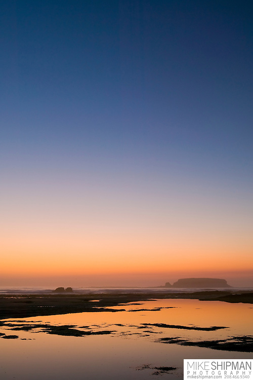 Sunset at Otter Rock, Devils Punchbowl