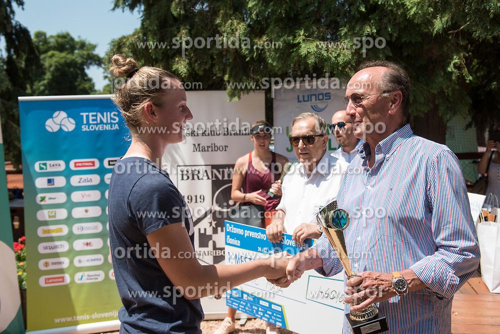 Maja Makoric after winning in the final of Drzavno prvenstvo v tenisu za clane in clanice, on June 27th, 2019 in Maribor, Slovenia. Photo by Milos Vujinovic / Sportida