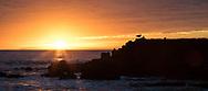 USA, California, Laguna Beach. Sunset over the Pacific Ocean.