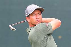 August 25, 2018 - Paramus, NJ, U.S. - PARAMUS, NJ - AUGUST 25:   Adam Scott of Australia plays his shot from the first tee  during the third round of The Northern Trust on August 25, 2018 at the Ridgewood Championship Course in Ridgewood, New Jersey.   (Photo by Rich Graessle/Icon Sportswire) (Credit Image: © Rich Graessle/Icon SMI via ZUMA Press)