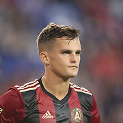HARRISON, NEW JERSEY- OCTOBER 15: Mikey Ambrose #22 of Atlanta United during the New York Red Bulls Vs Atlanta United FC, MLS regular season match at Red Bull Arena, Harrison, New Jersey on October 15, 2017 in Harrison, New Jersey. (Photo by Tim Clayton/Corbis via Getty Images)